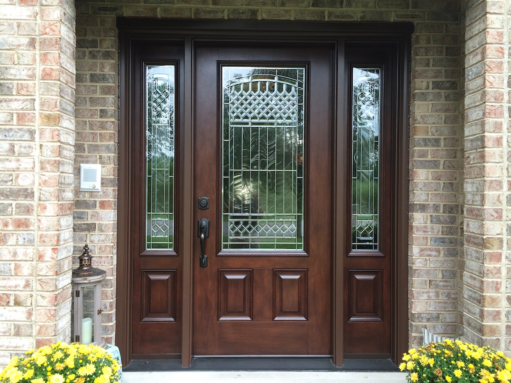 Most entry doors are built so the deadbolt sits inside the for High end exterior doors
